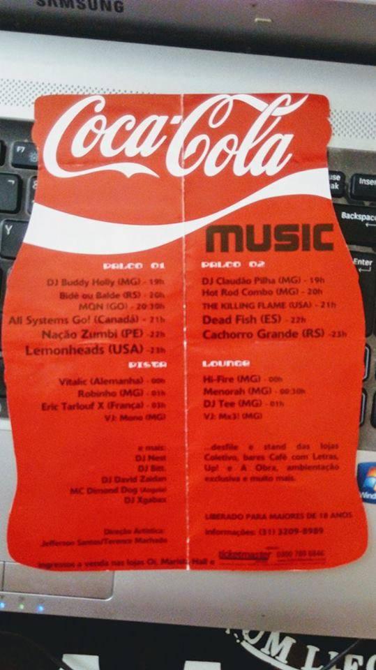 """Lemonheads como atração principal do """"Coca Cola Music""""."""